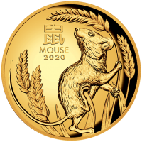 2020 $100 Mouse Gold High Relief Proof