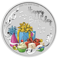 2020 $1 Happy Birthday Silver Coin