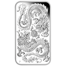 2020 $1 Dragon Rectangle Silver Proof
