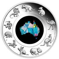 2020 $1 Great Southern Land Silver Opal Coin