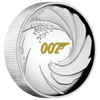 2020 $1 James Bond High Relief Silver Proof