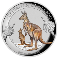 2020 $1 Kangaroo Coloured High Relief Silver Proof