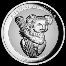 2020 $1 Koala Incuse High Relief Silver Coin