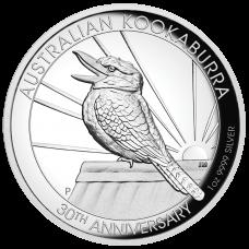 2020 $1 Kookaburra High Relief Silver Proof