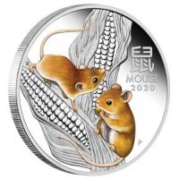 2020 $1 Rat Coloured Proof