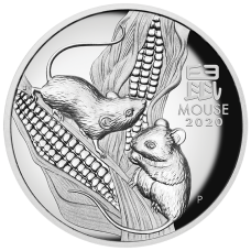 2020 $1 Rat High Relief Silver Proof