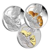 2020 $1 Rat Silver Trio