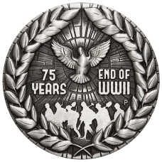 2020 $2 75th Anniversary of the End of WWII Antique Silver Coin