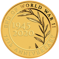 2020 $2 75th Anniversary of the End of WWII Mini Gold Coin