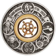 2020 $2 Voyage of Discovery - Endeavour Antique Silver Coin