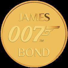 2020 $2 James Bond Gold Coin