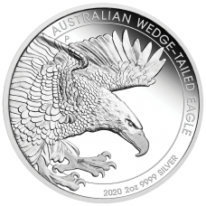 2020 $2 Wedge-tailed Eagle Silver Piedfort