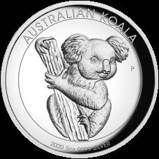 2020 $8 Koala High Relief Silver Proof