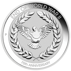 2020 10c 75th Anniversary of the end of WWII silver coin