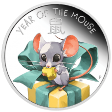 2020 50c Baby Mouse Silver Proof