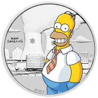2020 50c Simpsons - Homer Silver Coin