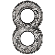 2020 $2 Dragon & Phoenix Figure 8 Coin