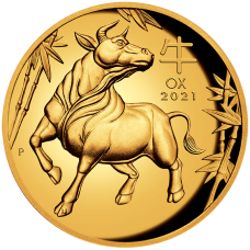 2021 $100 Ox Gold High Relief Proof