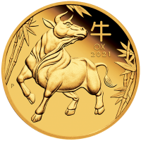 2021 $10 Year of the Ox Gold Proof
