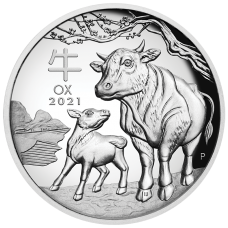 2021 $1 Ox Silver High Relief Proof