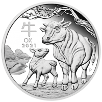 2021 $1 Year of the Ox Silver proof