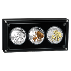 2021 $1 Year of the Ox Silver Trio