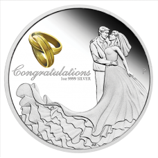 2021 $1 Wedding Silver Proof