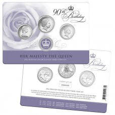2016 Queens 90th Birthday 50c and 20c set