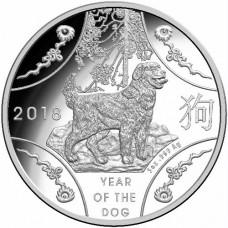 2018 $10 Lunar Dog 5oz Silver Proof