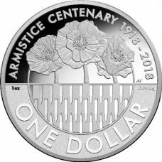 2018 $1 Armistice Silver Proof
