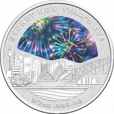 2018 $1 New Years Eve Silver Coin
