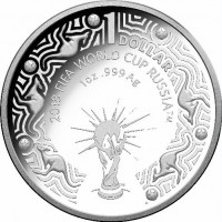 2018 $1 FIFA World Cup Silver Proof
