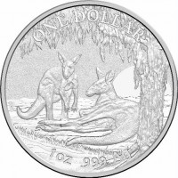 2018 $1 Kangaroo Silver Unc