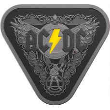 2018 $5 AC/DC Black Silver Proof