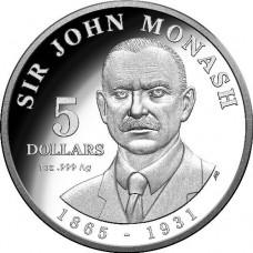 2018 $5 Sir John Monash Silver Proof