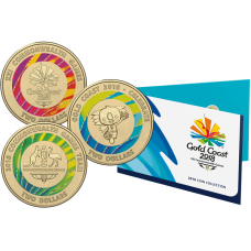 2018 $1 and $2 Commonwealth Games Set