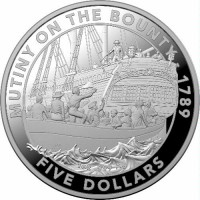 2019 $5 Mutiny on the Bounty Silver Proof