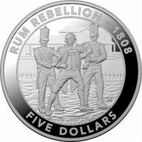 2019 $5 Rum Rebellion Silver Proof