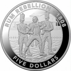 2019 $5 Rum Rebellion Silver Proof