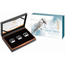 2019 Kookaburra Pattern 3 coin silver proof set