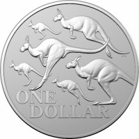 2020 $1 Kangaroo Silver Frosted Unc