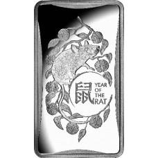 2020 $1 Lunar Rat Silver Ingot