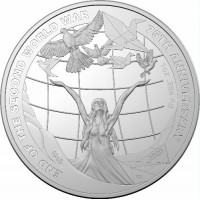 2020 $5 75th Anniversary of the end of WWII Silver Proof