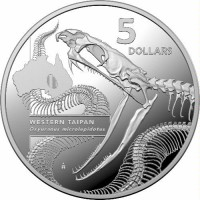 2020 $5 - Inside Australia's Most Dangerous - Western Taipan Silver Proof