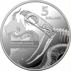 2020 $5 - Inside Australia's Most Dangerous - Western Taipan Silver Proof