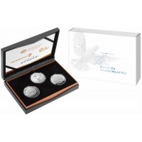 2020 75th Anniversary of the End of WWII 3 coin silver set