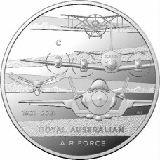 2021 $1 Centenary of the Airforce Silver Proof