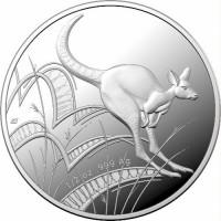 2021 $1 Kangaroo Fine Silver Proof