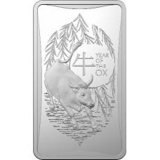 2021 50c Lunar Ox Silver Ingot