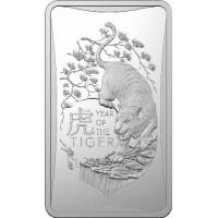 2022 $1 Tiger Silver Ingot